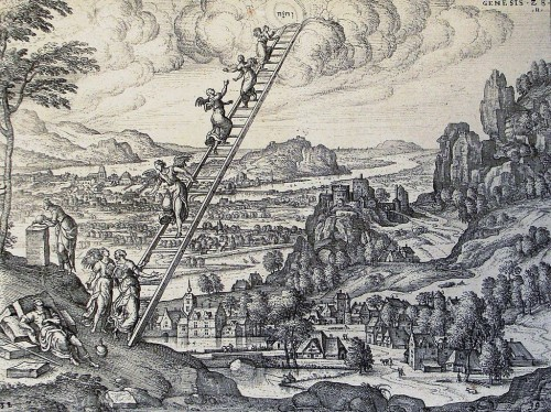 The Phillip Medhurst Picture Torah 148. Jacob's Dream. [Image: Wikimedia Commons]