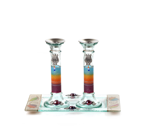 These handmade candlesticks by Lily Shohat encapsulate the beauty of the Sabbath in the Holy Land
