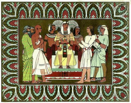 Joseph Interprets Pharaoh's Dreams [Illustration: Owen Jones Wikimedia Commons]