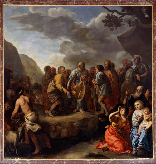 Jethro advising Moses. [Painting: Jan van Bronchorst / Wikimedia Commons]