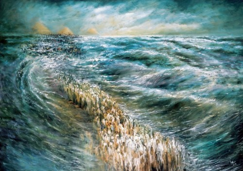 Splitting the Sea [Painting by Lidia Kozenitzky, available from http://commons.wikimedia.org/wiki/User:Effib]
