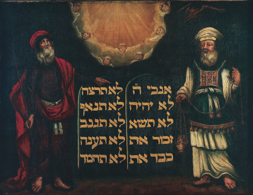 Moses and Aaron with the Tablets of the Law, artist unknown. [Image: Wikimedia Commons]