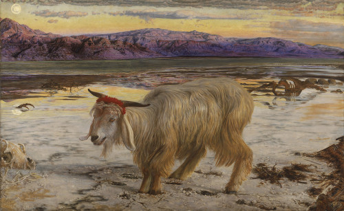 The Scapegoat, by William Holman Hunt. In Temple times, the scapegoat was a central part of the Yom Kippur service. [Image: Wiki Commons]