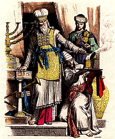 Only a priest can diagnose Tzaraat, a skin affliction with spiritual roots. [Image: THE HISTORY OF COSTUME By Braun & Schneider via Wiki Commons]
